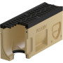 Monoblock PD 100 V Revisionselement mit Gussrost mit Lippenlabyrinthdichtung DN 100 natur / anthrazitschwarz