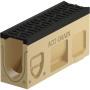 Monoblock PD 100 V Revisionselement mit Gussrost mit senkrechter und seitlichen Vorformungen DN 100 natur / anthrazitschwarz