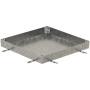 PAVING Schachtabdeckung, Wannentiefe 80 mm Rahmen und Deckelwanne aus Stahl feuerverzinkt