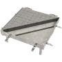 PAVING Schachtabdeckung mit Öffnungshilfe Rahmen und Deckel aus Stahl feuerverzinkt