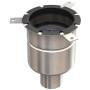 Gully 157 mehrteilig mit Geruchsverschluss, Ablaufkörper senkrecht DN 70 - DN 100, mit Halterand