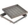 FI Schachtabdeckung Rahmen und Deckelwanne aus Stahl feuerverzinkt