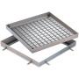 FI Schachtabdeckung Rahmen und Deckelwanne aus Aluminium