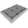 Reihenabdeckung ACOmatic BEGU D 400 mit Einzeldeckel 1000 x 500 mit Betonrahmen